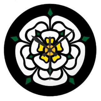 Jacobite - Stuart - York Rose Large Clock