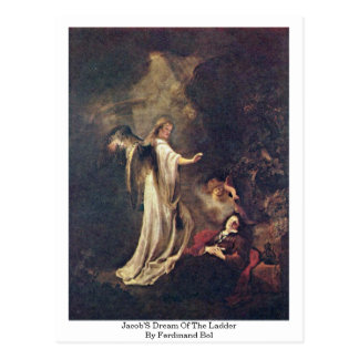 Jacob'S Dream Of The Ladder By Ferdinand Bol Postcard