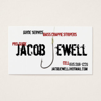 Jacob's Fishing Guide Service Business Card