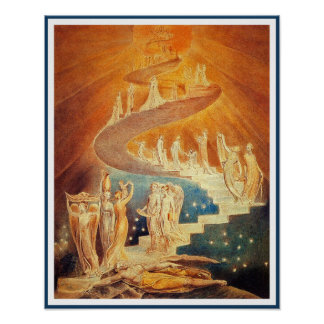 Jacob's Ladder by William Blake Poster