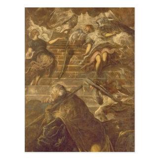 Jacob's Ladder (oil on canvas) Postcard