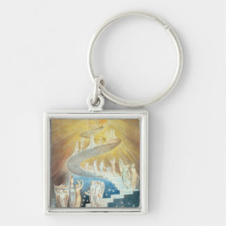 Jacob's Ladder Silver-Colored Square Keychain