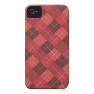 Jacquard sophistiqué en rouge, rouge, rouge coque Case-Mate iPhone 4