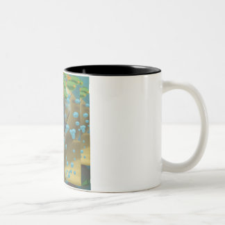 Jacque the Cat Two-Tone Coffee Mug