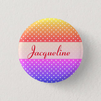 Jacqueline name plate Anstecker 1 Inch Round Button