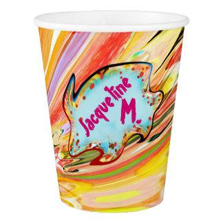 Jacqueline's Color Burst Paper Cup