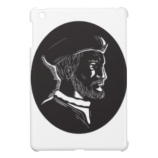 Jacques Cartier French Explorer Oval Woodcut Case For The iPad Mini