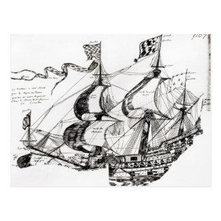 Jacques Cartier's ship, 'Rarete Indes Postcard