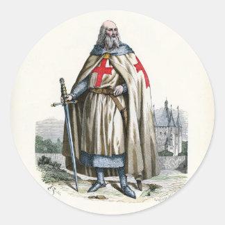 Jacques de Molay - Knight Templar Round Sticker