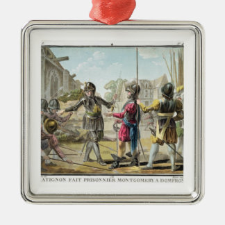 Jacques il Goyon, Lord of Matignon, Takes Montgome Silver-Colored Square Ornament