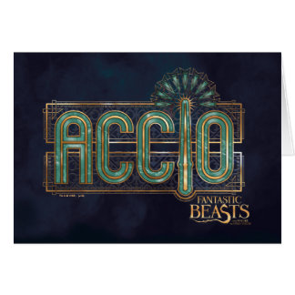 Jade Art Deco Accio Spell Graphic Card