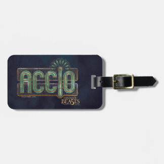 Jade Art Deco Accio Spell Graphic Luggage Tag