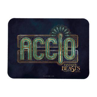 Jade Art Deco Accio Spell Graphic Magnet