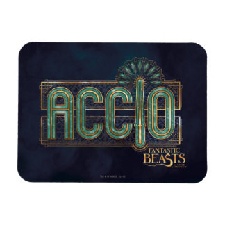 Jade Art Deco Accio Spell Graphic Rectangular Photo Magnet
