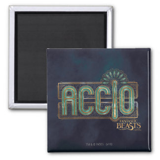 Jade Art Deco Accio Spell Graphic Square Magnet