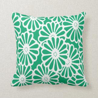 Jade Asian Moods Floral Throw Pillow