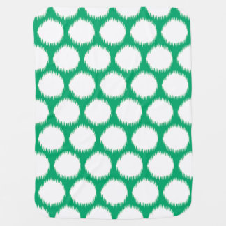 Jade Asian Moods Ikat Dots Baby Blanket