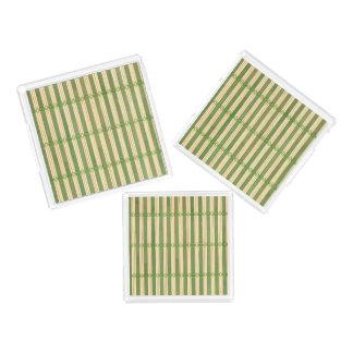 Jade Bamboo Mat Texture Look Acrylic Tray