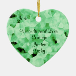 Jade Ceramic Heart Ornament