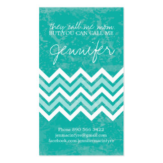 Jade Chevron Mommy Cards Pack Of Standard Business Cards