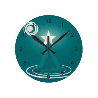 Jade Christmas dream Round Clock