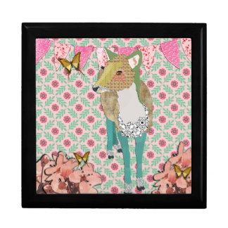 Jade Deer Pink Floral Gift Box