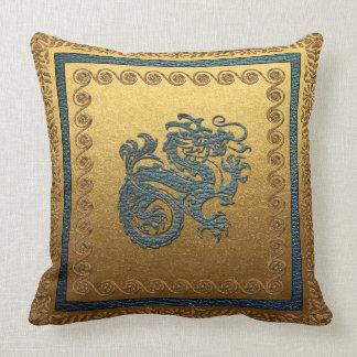 "Jade Dragon 2  Throw Pillow, w 20"" x 20"" Throw Pillow"
