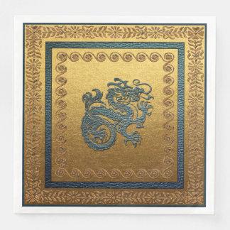 Jade Dragon Dinner Paper Napkins