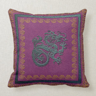 "Jade Dragon Throw Pillow, Throw Pillow 20"" x 20"""