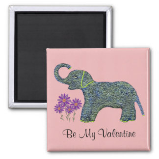 Jade Elephant Valentine Magnet