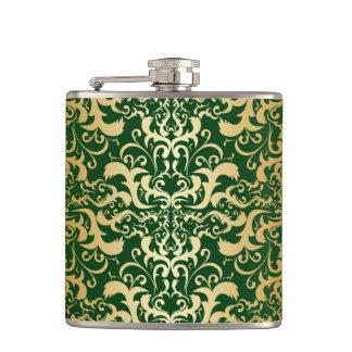jade,faux gold,damasks,vintage,antique,pattern,chi flasks