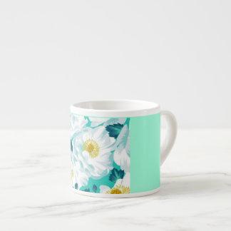 Jade Floral Espresso Mug
