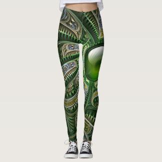 Jade Fractal Image Leggings