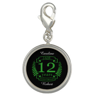 Jade Gemstone wedding anniversary 12 years Charms