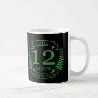 Jade Gemstone wedding anniversary 12 years Coffee Mug