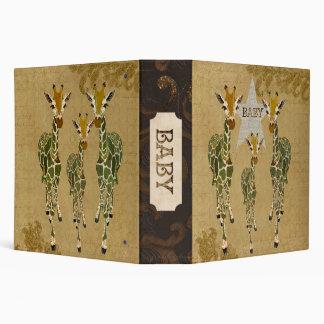 Jade & Gold Giraffes Baby Book Binders
