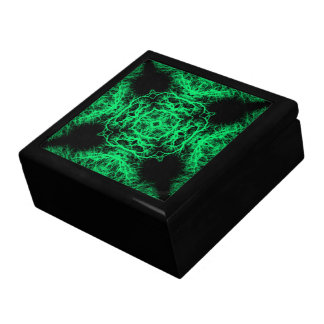 Jade Green and Black Elegant Pattern. Gift Box