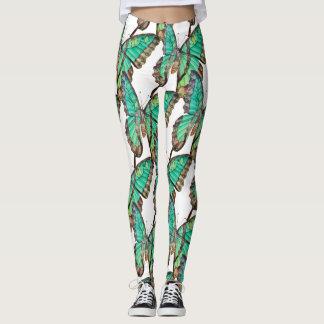 Jade Green Butterfly Leggings