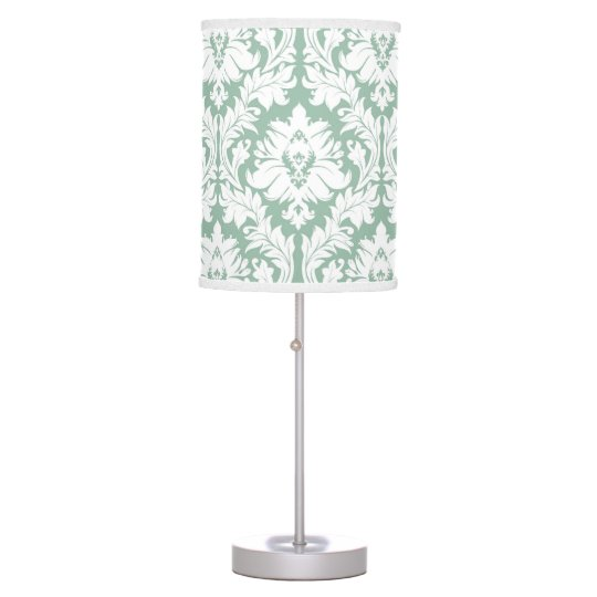 Jade green Damask Table Lamps
