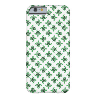 Jade Green Mosaic Sea Turtle Pattern Barely There iPhone 6 Case