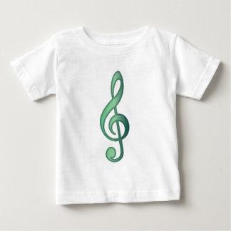 """Jade"" Green Treble Clef Baby T-Shirt"