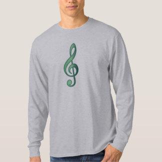 """Jade"" Green Treble Clef T-Shirt"