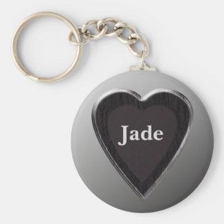 Jade Heart Keychain by 369MyName