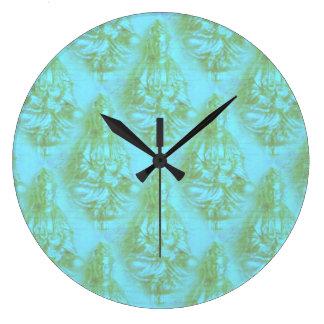 Jade Kwan Yin Large Clock