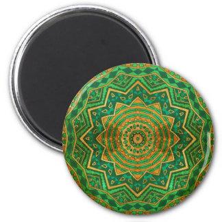 Jade mandala 2 inch round magnet