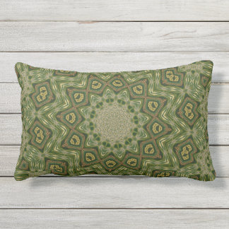 Jade Maze Outdoor Pillow