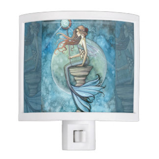 Jade Moon Mermaid Fantasy Art Night Light