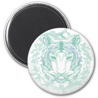 Jade mountain tiger 2 inch round magnet