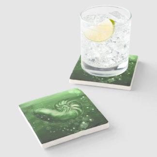 Jade Nautilus Shell Art Coaster
