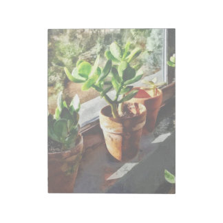 Jade Plants in Greenhouse Notepad